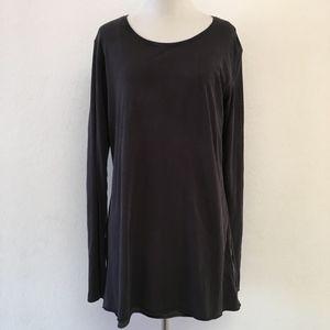 Lululemon Reversible Black Gray Tunic Top Size 6